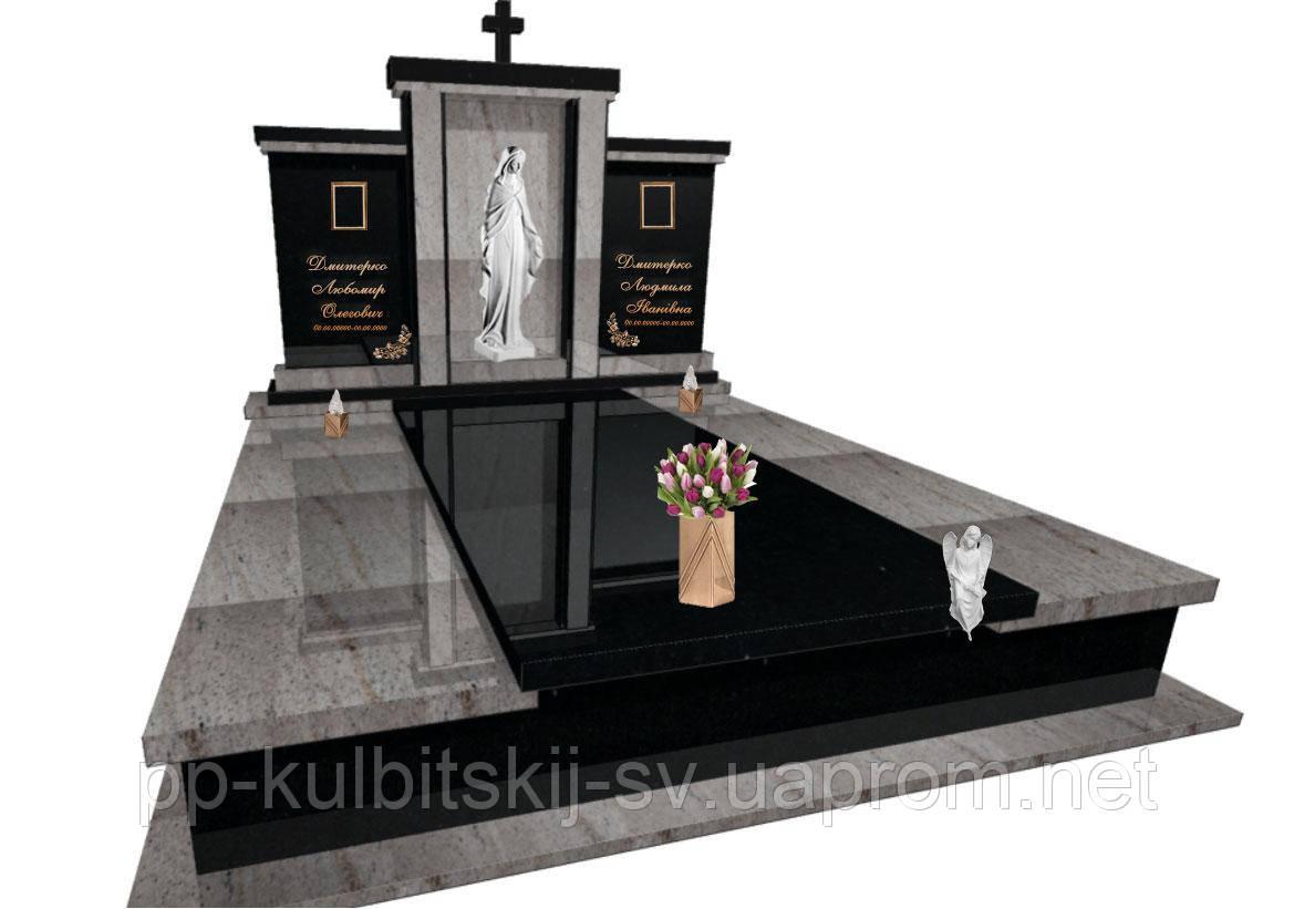 Пам'ятник надгробний гранітний з ритуальною скульптурою F5100
