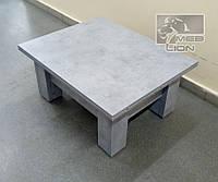 """Стол трансформер с синхронным механизмом """"Оптимус бетон чикаго светло серый"""" ЛДСП EGGER"""