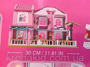 Конструктор Розовая мечта Sluban М38-В0721 Большой загородный Домик (Аналог Lego Friends) 896 детали, фото 3