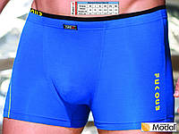 Модные мужские трусы шорты, модал, однотонные, с тонкой двойной резинкой, Fuko UB 7878