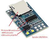 TF MP3 декодер з підсилювачем 1*2Вт DC :Li-ion 3.7v, USB 5V Arduino compartible, фото 2