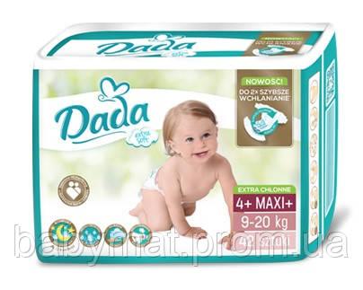 Подгузники DADA Extra Soft  р.4+ (9-20 кг) 42 шт