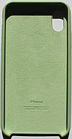 Чехол накладка для iPhone X Silicone Case зеленый , фото 1