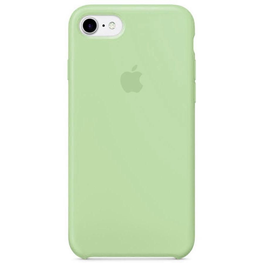 Чехол накладка на iPhone 7/8 Silicone Case зеленый
