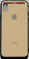 Стеклянный Защитный Чехол Iphone X жолтый / накладка айфон 10 бампер стеклянный