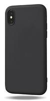 Чехол из тонкого матового TPU для Iphone 10 черный / чехол на айфон / чохол / ультратонкий / бампер / накладка X