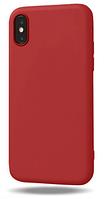 Чехол из тонкого матового TPU для Iphone 10 TPU красный / чехол на айфон / чохол / ультратонкий / бампер / накладка X /