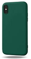 Чехол из тонкого матового TPU для Iphone 10 TPU зеленый / чехол на айфон / чохол / ультратонкий / бампер / накладка X /
