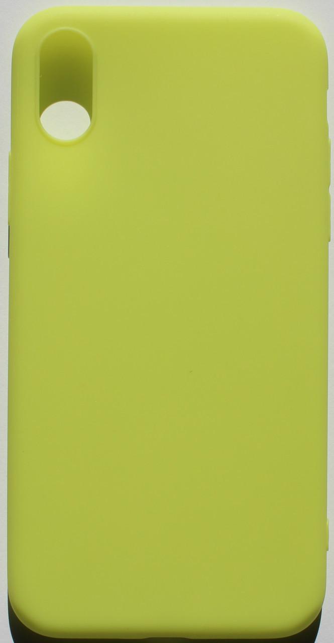Чехол из тонкого матового TPU для Iphone 10 TPU желтый / чехол на айфон / чохол / ультратонкий / бампер / накладка X /