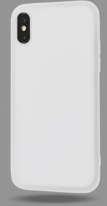 Чехол из тонкого матового TPU для Iphone 10 TPU белый  / чехол на айфон / чохол / ультратонкий / бампер / накладка X /
