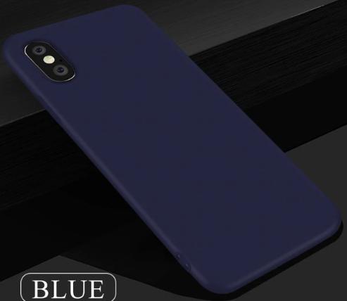 Чехол из тонкого матового TPU для Iphone 10 TPU синий / чехол на айфон / чохол / ультратонкий / бампер / накладка X / Iphone