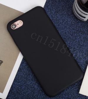 Чехол из тонкого матового TPU для Iphone 7 plus black (черный) / чехол на айфон / чохол / ультратонкий / бампер / накладка