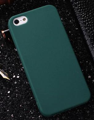 Чехол из тонкого матового TPU для Iphone 7 plus зеленый / чехол на айфон / чохол / ультратонкий / бампер / накладка