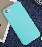 Чехол из тонкого матового TPU для Iphone 8 plus бирюзовый / чехол на айфон / чохол / ультратонкий / бампер / накладка