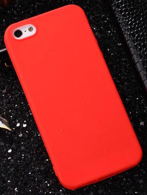 Чехол из тонкого матового TPU для Iphone 8 plus красный / чехол на айфон / чохол / ультратонкий / бампер / накладка