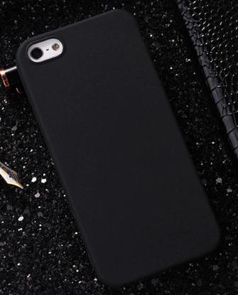 Чехол из тонкого матового TPU для Iphone  8 черный / чехол на айфон / чохол / ультратонкий / бампер / накладка