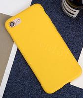 Чехол из тонкого матового TPU для Iphone 8 желтый / чехол на айфон / чохол / ультратонкий / бампер / накладка
