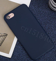 Чехол из тонкого матового TPU для Iphone 8 синий / чехол на айфон / чохол / ультратонкий / бампер / накладка