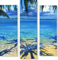 Репродукция модульной картины триптих «Карибский рай»
