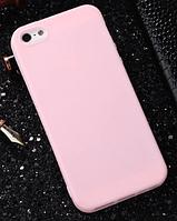 Чехол из тонкого матового TPU для Iphone 8 plus розовый / чехол на айфон / чохол / ультратонкий / бампер / накладка