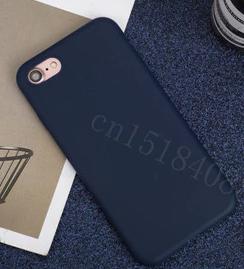 Чехол из тонкого матового TPU для Iphone 6 plus синий / чехол на айфон / чохол / ультратонкий / бампер / накладка