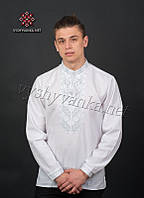 Белая мужская вышиванка 2070, фото 1