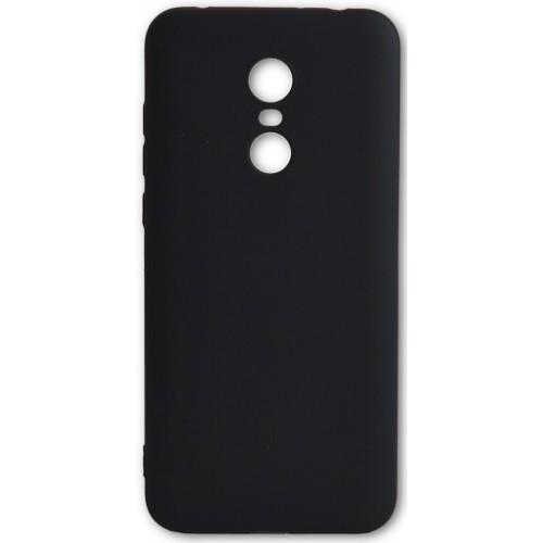 Силиконовый чехол Man for Xiaomi Redmi 5 Plus  Black / чехол для сяоми редми 5 плюс черный / силиконовый чехол на xiaomi 5 + черный  / PREMIUM!!!
