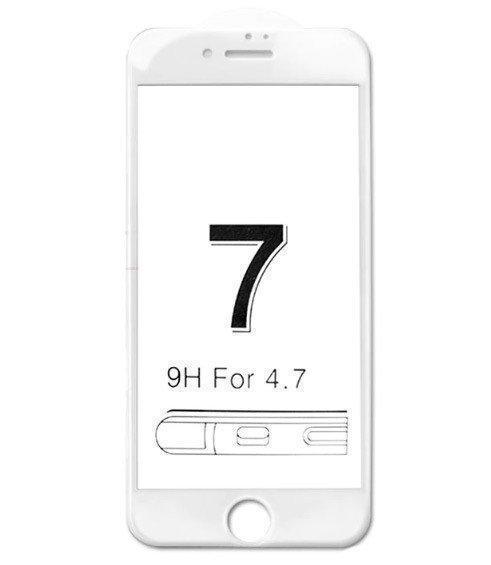 Защитное 3D стекло для iPhone 8 white / 7  / 3Д стекло на афон 7/8 белое противоударное