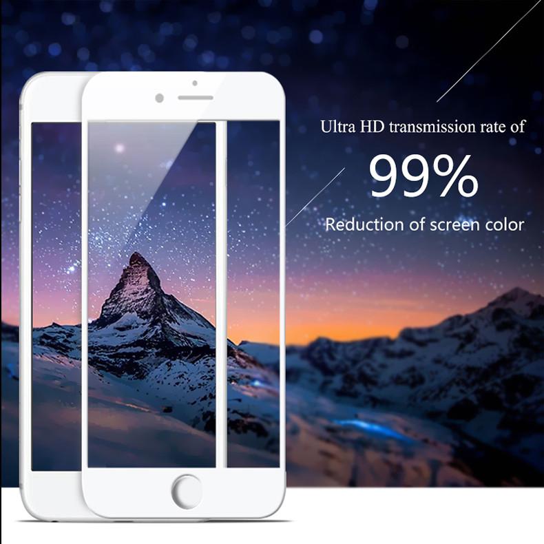 Защитное 3D стекло для iPhone 8 white противоударное