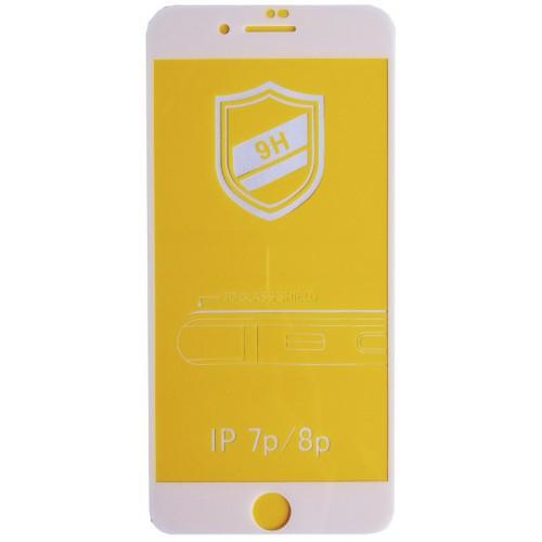 Защитное 3D стекло для iPhone 7/8 Plus white белое противоударное