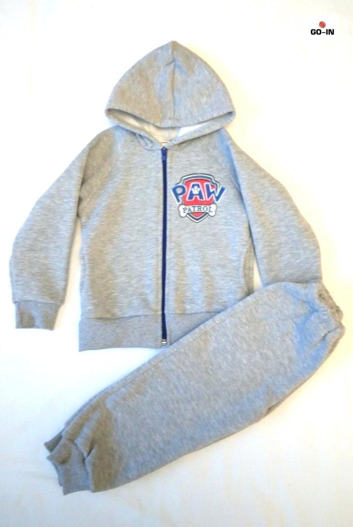 Детский костюм теплый на молнии серый трьехнитка 26-30р.