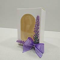 """Коробочка для писанки с декором """"Лаванда"""" 70х70х100 мм."""
