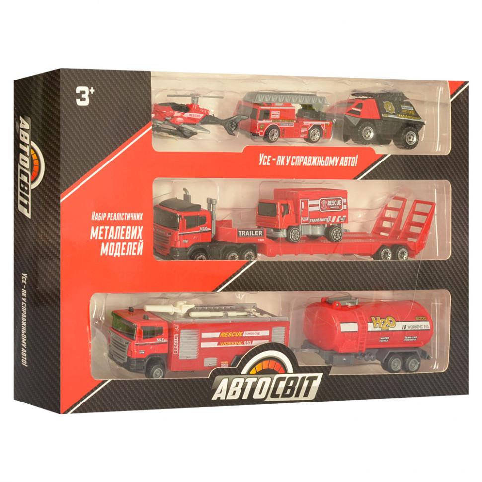 Игровой набор машинок Пожарная станция