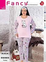 Пижама женская большого размера кошечка