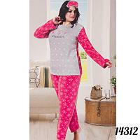 Пижама женская большого размера снежинки