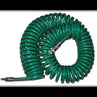 Шланг спиральный Vitol для пневмоинструмента с переходниками 8*12, 10 м V-81210P