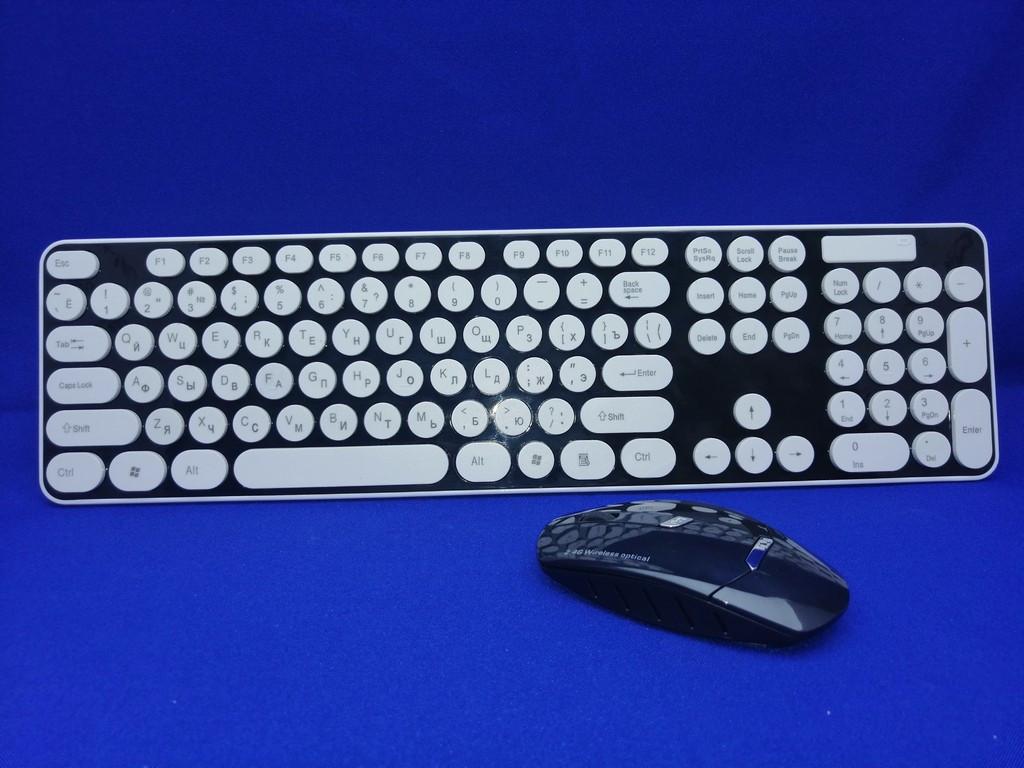 Комплект беспроводная клавиатура и мышь HK3960 + подарок