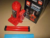 Домкрат бутылочный двухштоковый пластик, красный 2т, H=165/410  (арт. dbj-2HPVC)