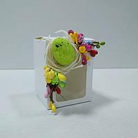 Коробочка для подарка 50х50х70 мм. с пасхальным декором