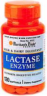 Препарат для лучшего усвоения молочных продуктов Puritan's Pride Lactase (120 капс)