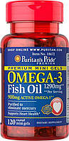 Комплекс незаменимых жирных кислот Puritan's Pride Omega 3 Fish Oil 1290 мг Mini Gels (900 мг Active Omega 3)