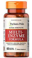 Витамины и минералы Puritan's Pride Super Strength Multi Enzyme (60 капс)