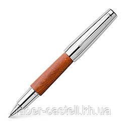 Ручка роллер Faber-Castell E-motion Pearwood brown, корпус дерево груши, 148205