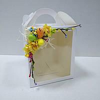 Коробка для кулича, пряничных домов и подарков с декором (160*160*190 мм), фото 1