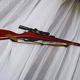 Снайперська Гвинтівка Мосіна макет з дерева, фото 4
