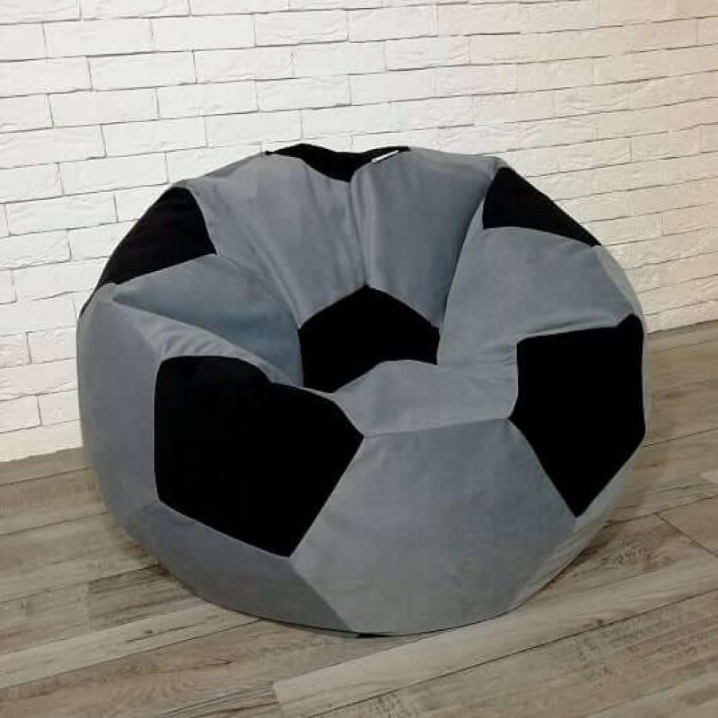 Кресло-мяч KatyPuf серое Велюр
