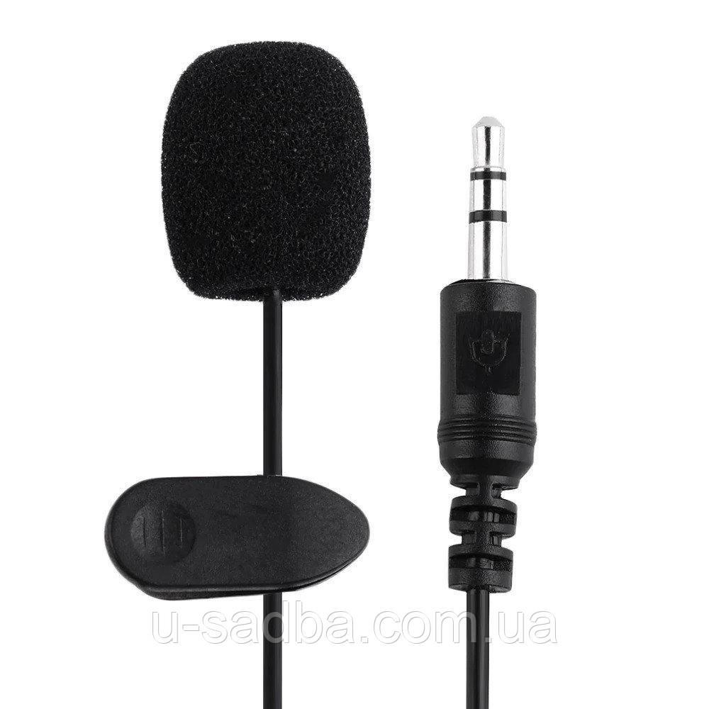 Микрофон для телефона петличка 3,5 мм с клипсой