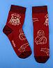 Носки с принтом женские Mushka Leonardo (LEON01) 36-40 Красные, фото 3