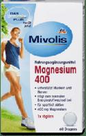 Mivolis Magnesium 400 Пищевая добавка с магнием 400 мг в драже 60 шт.
