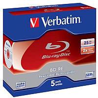 BD-R Verbatim (43615) SL 25GB 2x Jewel 5шт
